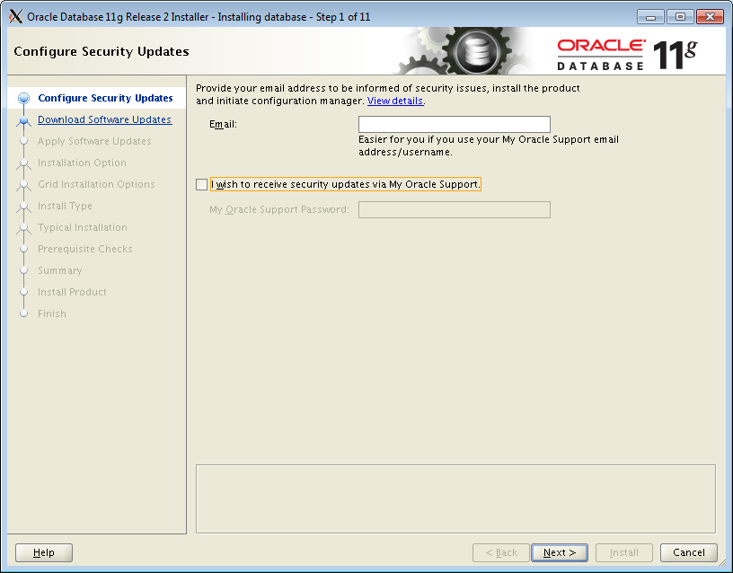 Oracle Database 11gR2 (11 2 0 4) installation on Oracle Linux 6 4