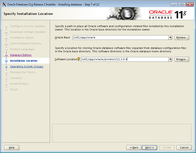 Oracle Database 11gR2 (11 2 0 4) installation on Oracle